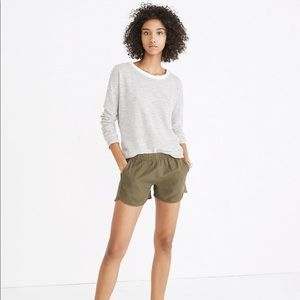 Madewell Pull On Shorts in Birch Leaf